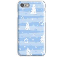 Blue Xmas magic iPhone Case/Skin