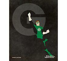 Green Lantern - Superhero Minimalist Alphabet Print Art Photographic Print