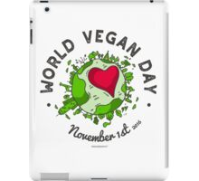 World Vegan Day iPad Case/Skin