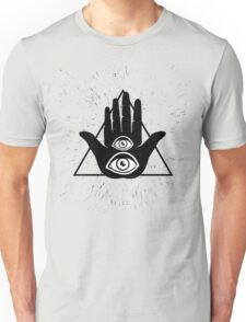 Hand and two eyes Unisex T-Shirt