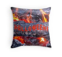 HELLOWEEN - HALLOWEEN CARD AND COVERS Throw Pillow