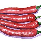 Red Hot Chilies by Yvonne Carter