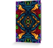 Lysergic Symmetric Doomsplatter Greeting Card