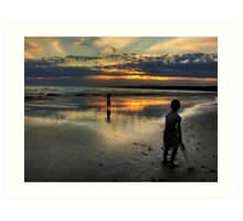 """Friday Night Beach Cricket"",Hutt Gully,Great Ocean Road,Australia. Art Print"
