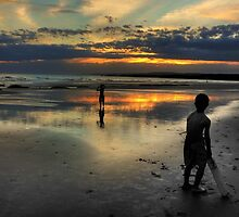"""Friday Night Beach Cricket"",Hutt Gully,Great Ocean Road,Australia. by Darryl Fowler"