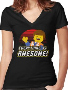Everything is awesome! Women's Fitted V-Neck T-Shirt