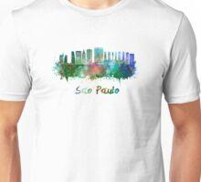 Sao Paulo V2 skyline in watercolor Unisex T-Shirt