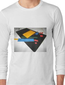Abstract art of a square life Long Sleeve T-Shirt