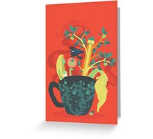 Mermaid In a Teacup Greeting Card