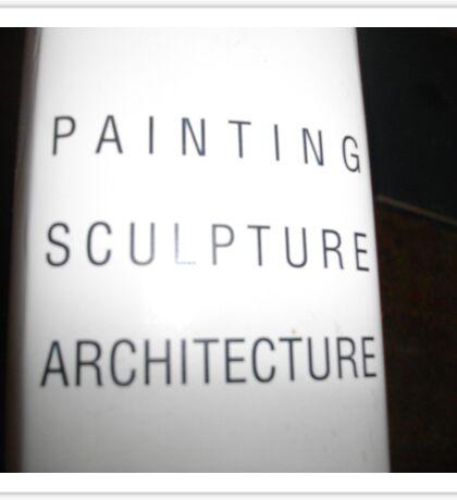 Art,sculpture sign Sticker