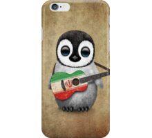 Baby Penguin Playing Iranian Flag Guitar iPhone Case/Skin