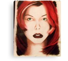Milla - Red Hair Canvas Print