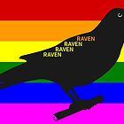 Raven Rainbow by piedaydesigns