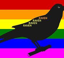 Raven Rainbow by piedaydesigns