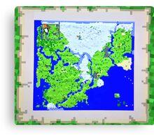 Mining Map King Size Duvet  Canvas Print