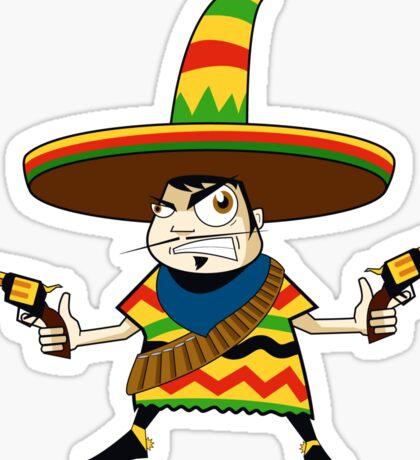 Crazy Mexican Sticker