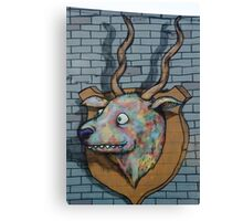 Deer Graffiti mural  Canvas Print