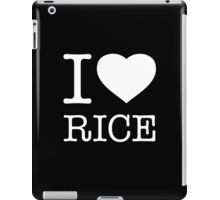 I ♥ RICE iPad Case/Skin