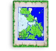 Mining Map Twin Size Duvet  Canvas Print