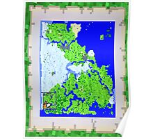 Mining Map Twin Size Duvet  Poster