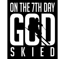Skiing: On the 7th god skied Photographic Print