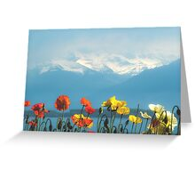 Swiss Flowers Greeting Card