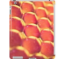 abstract red and orange honeycomb pattern iPad Case/Skin