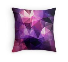 Abstract print geometrical pattern of triangles polygon. Fabric design in bright colors Throw Pillow