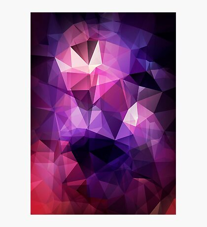 Abstract print geometrical pattern of triangles polygon. Fabric design in bright colors Photographic Print
