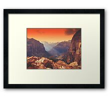 Zion Sunrays Framed Print