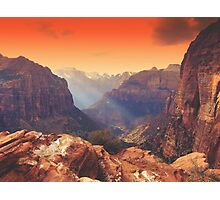 Zion Sunrays Photographic Print
