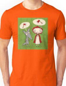 Red & Wolf Unisex T-Shirt