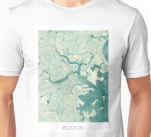 Boston Map Blue Vintage Unisex T-Shirt