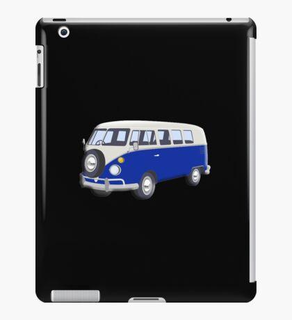 Volkswagen Van, VW Bus, Navy Blue, Camper, Split screen, 1966 Volkswagen, Kombi (North America) iPad Case/Skin