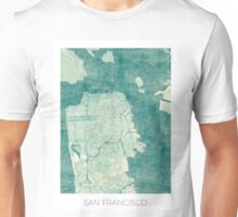 San Francisco Map Blue Vintage Unisex T-Shirt