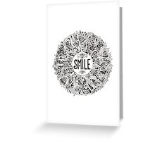 Smile graphic illustration Greeting Card