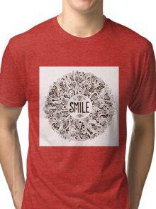 Smile graphic illustration Tri-blend T-Shirt