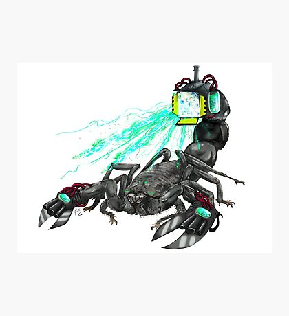 awesome laser scorpion Photographic Print