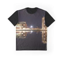 Evening reflections at Swansea Prince of Wales dock Graphic T-Shirt