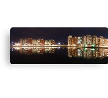 Evening reflections at Swansea Prince of Wales dock Canvas Print