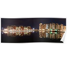 Evening reflections at Swansea Prince of Wales dock Poster