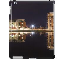 Evening reflections at Swansea Prince of Wales dock iPad Case/Skin