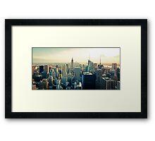 Manhattan Cityscape Framed Print