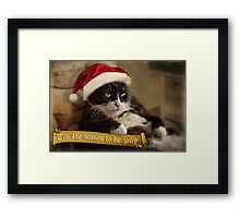 'Tis the season for Trouble Framed Print