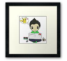 Pikachu Love Framed Print