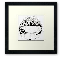 Crow with Pumpkins Framed Print