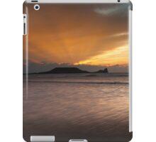 Sunset at Rhossili bay on the Gower peninsular iPad Case/Skin