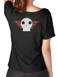 Skull Sqaudron Logo Women's Relaxed Fit T-Shirt