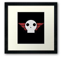 Skull Sqaudron Logo Framed Print