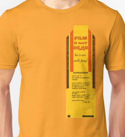 Film is not dead, smells funny Unisex T-Shirt